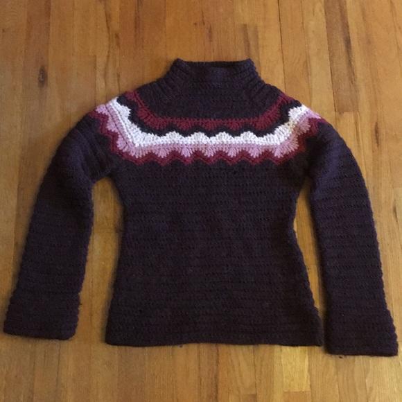 Jcrew Sweaters Vintage Hand Knit Sweater Size Medium Poshmark